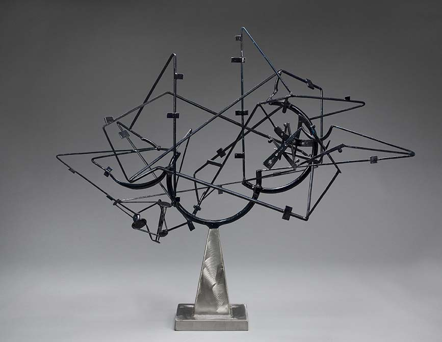 Sculpture by David Smith with a base that resembles a candleholder