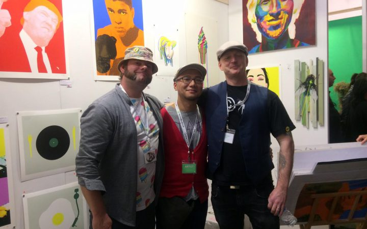 Artists Eliot Henning, Goro Shimano and Trevor Harvey
