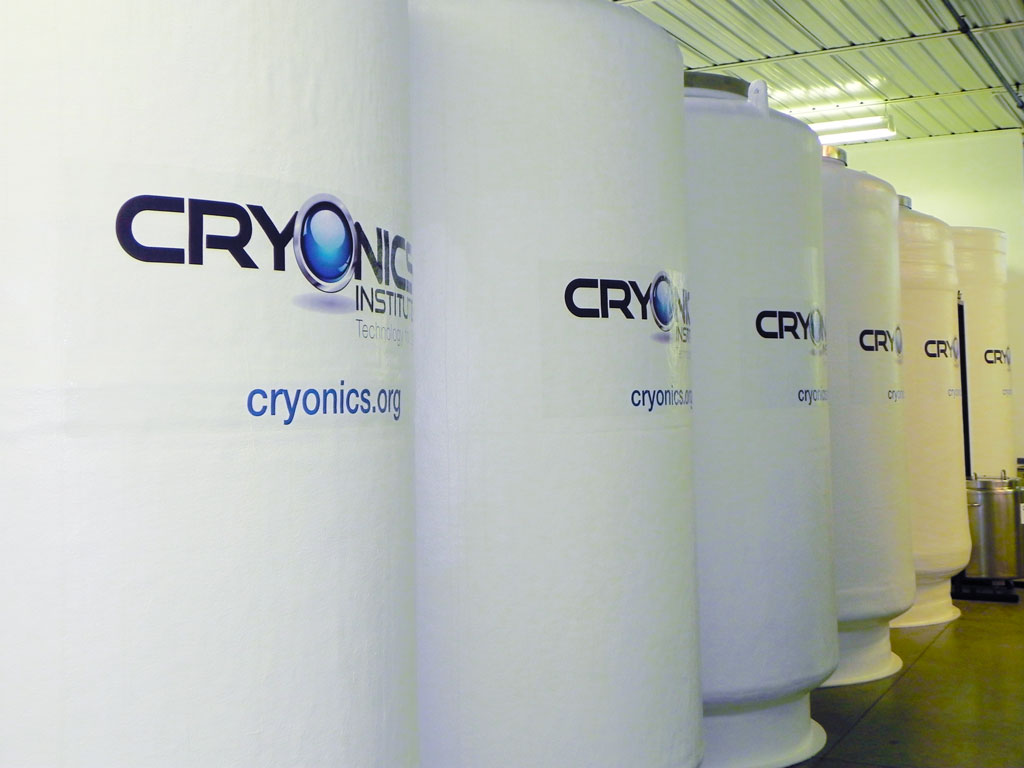 Cryostats at the Cryonic Institute in Michigan, USA