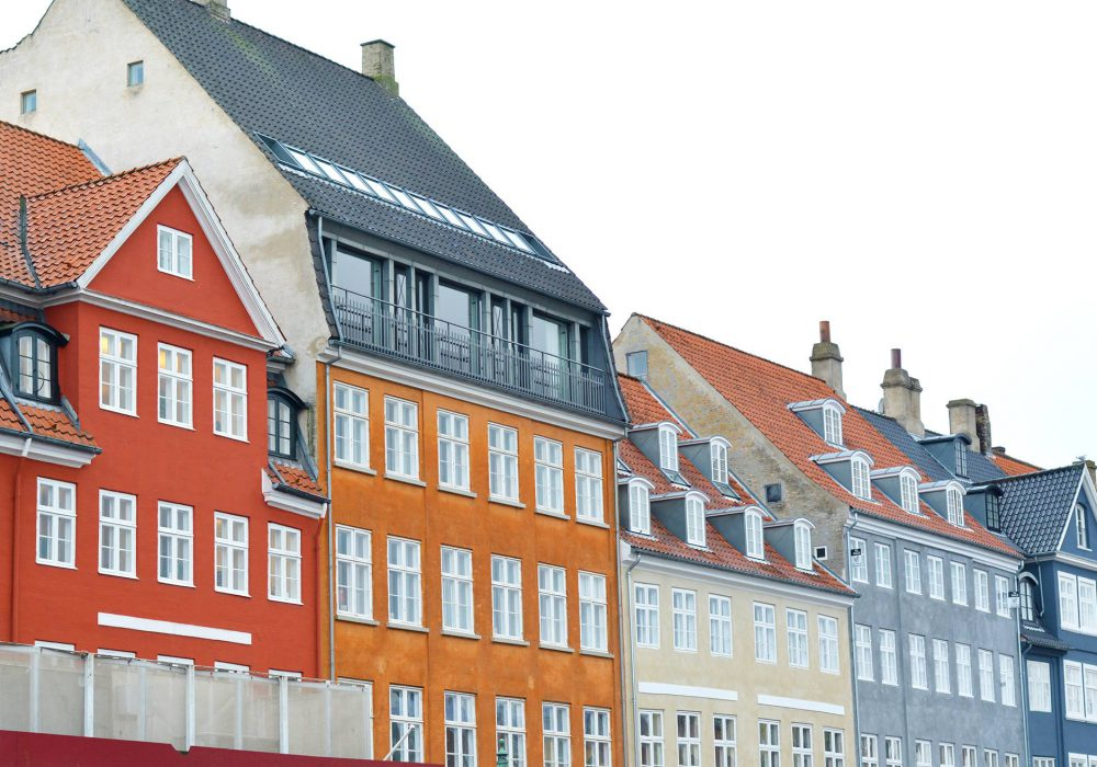 Houses in the centre of Copenhagen
