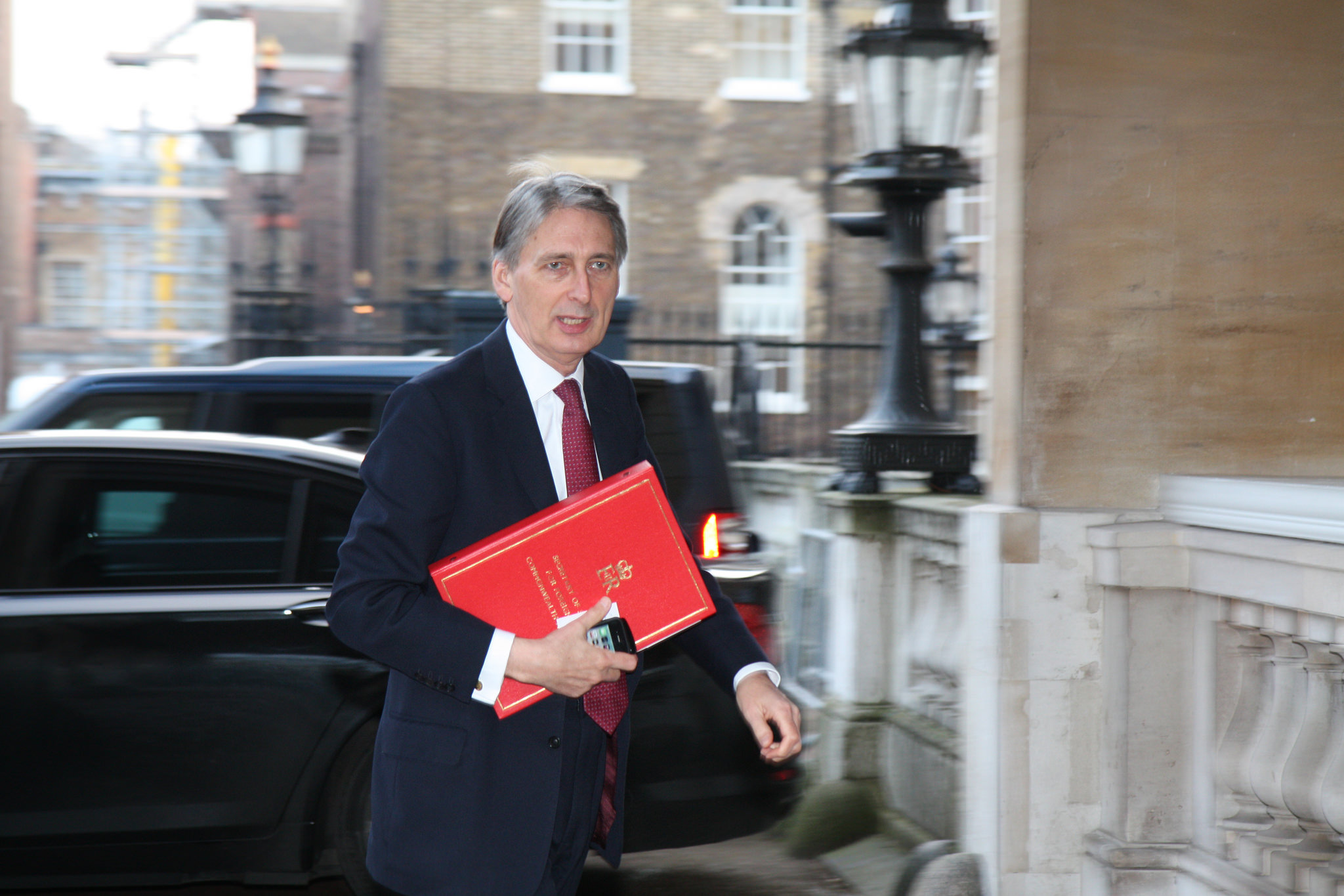 Chancellor of the Exchequer Philip Hammond arriving for a meeting in 2015
