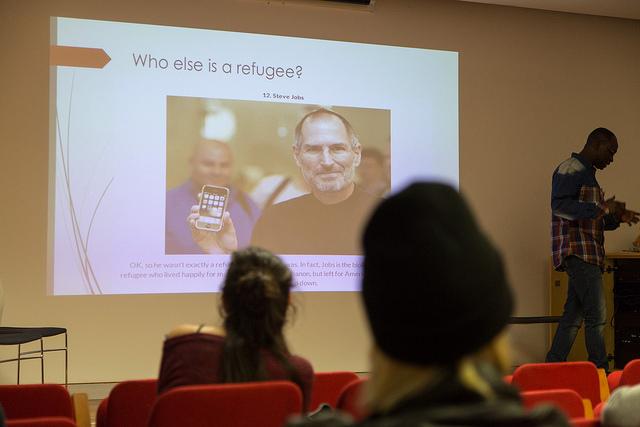 Steve Jobs, refugee
