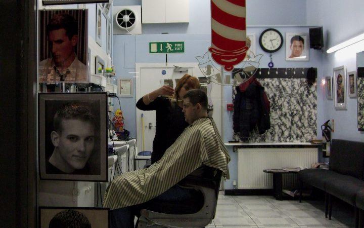 Hair cut in E&C shopping centre.
