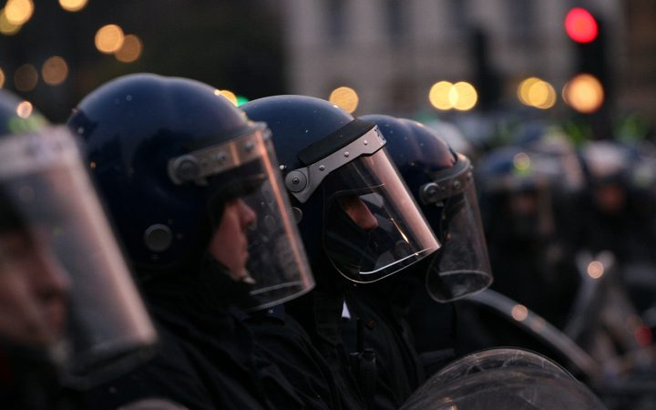 The Met officers at a march