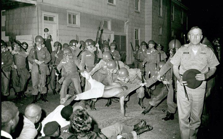 Danny Lyon: The arrest of Clifford Vaughs, Cambridge Maryland, 1963.