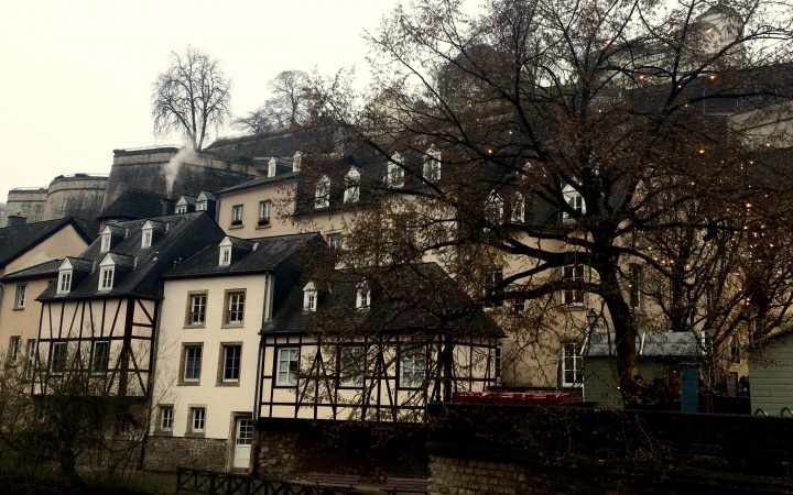 views from old city in Luxembourg City