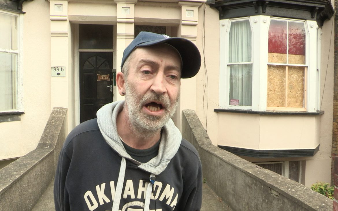 Wayne spoke with Harwich about his neighbour Phil who is living in dire poverty (Photo: James Cropper)