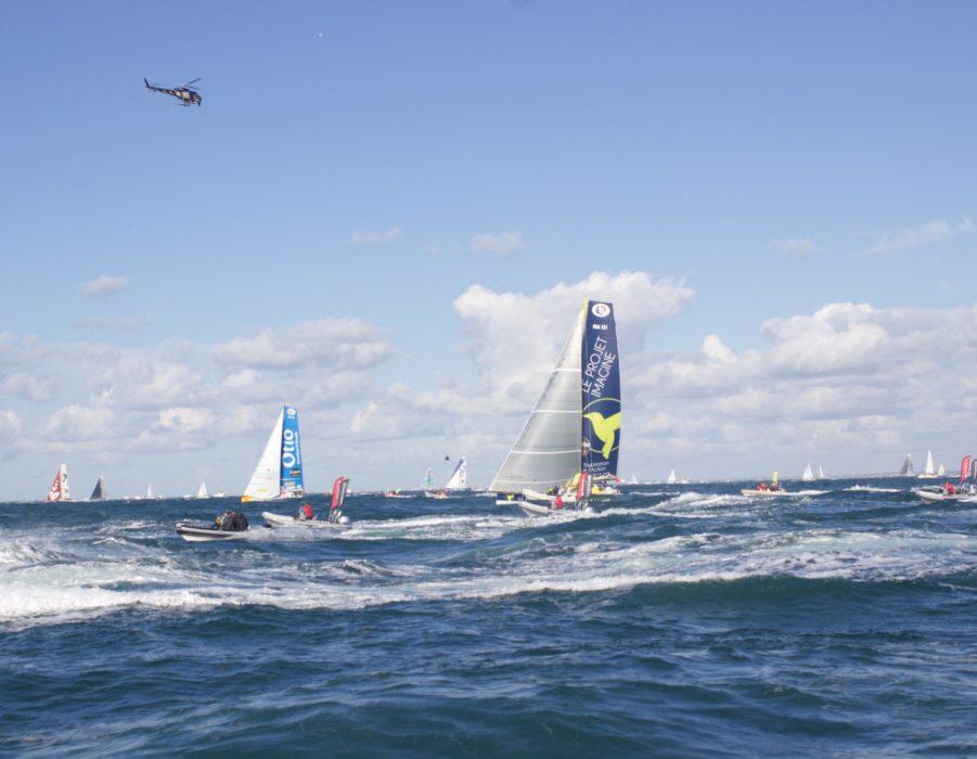 Racing yacht at sea