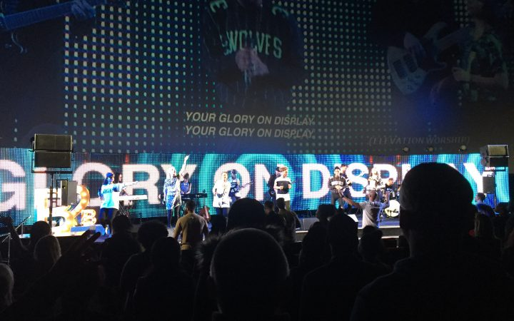 This is an image taken during praise and worship at CRC London at the o2