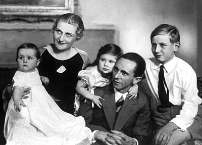 Mnister of evil: Goebbels with his family [Image: Dan Iggers, Flickr CC]