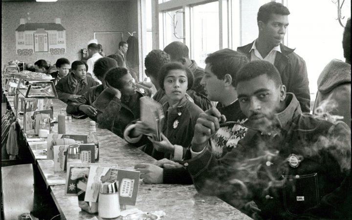 Danny Lyon: SNCC staff sit-in, Atlanta, Georgia, 1963.