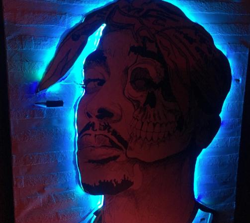 Hip Hop artist graffiti at Toy Room