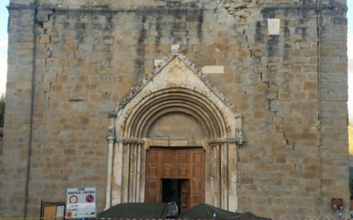 Crumbled church