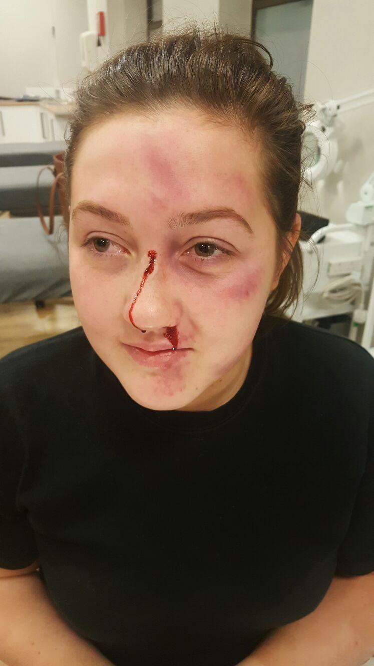 Make-up representation of domestic violence