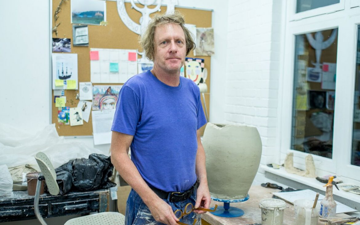 Grayson Perry in his North-London studio