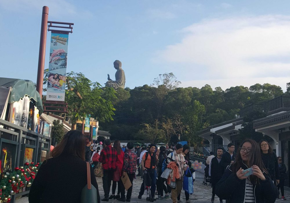 An idea of how far the Big Budda is from the Ngong Ping 360 stop though the walk was relevantly short, around half an hour