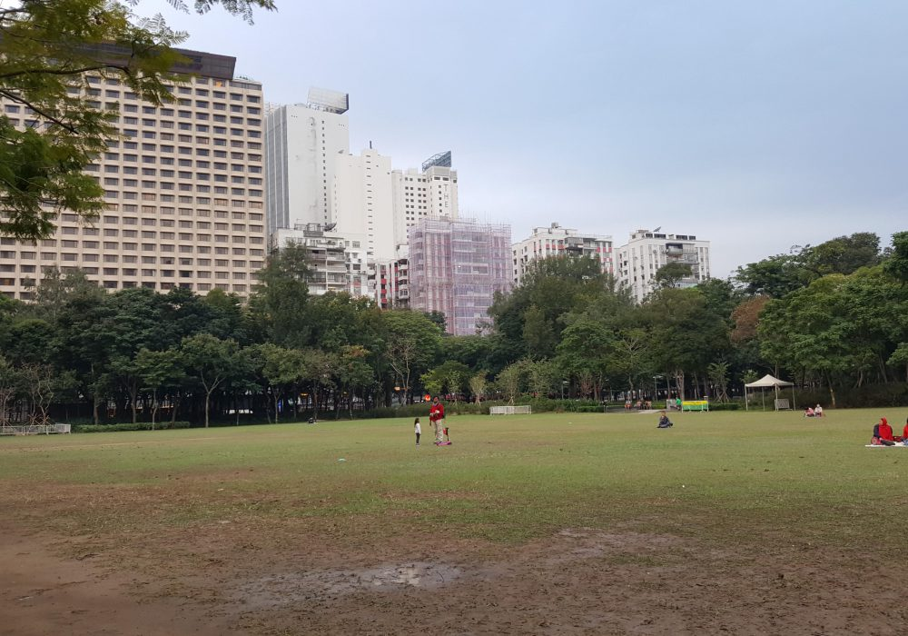 Wide shot of Victoria Park