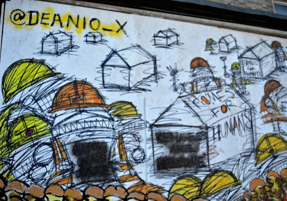 deanio_x and vandalised messages support- mural on lordship lane