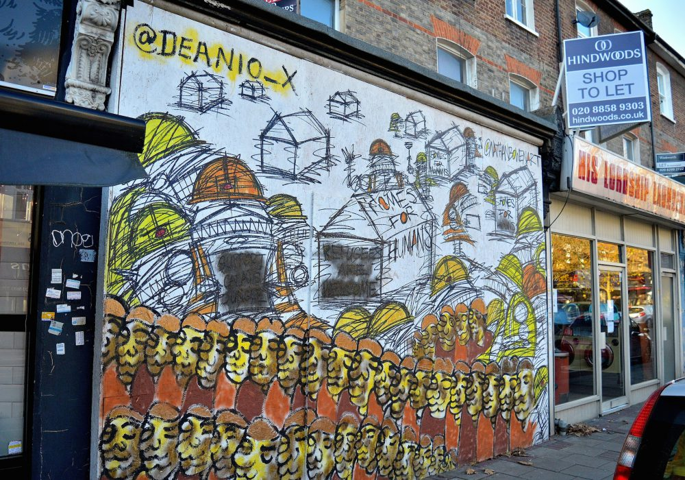 mural on lordship lane- street art