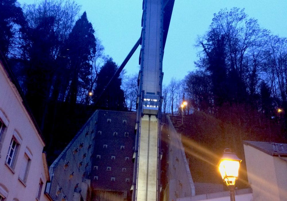 The lift at ascenseur de pfaffenthal