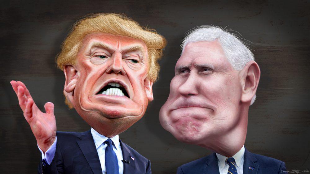 Trump/Pence Caricature
