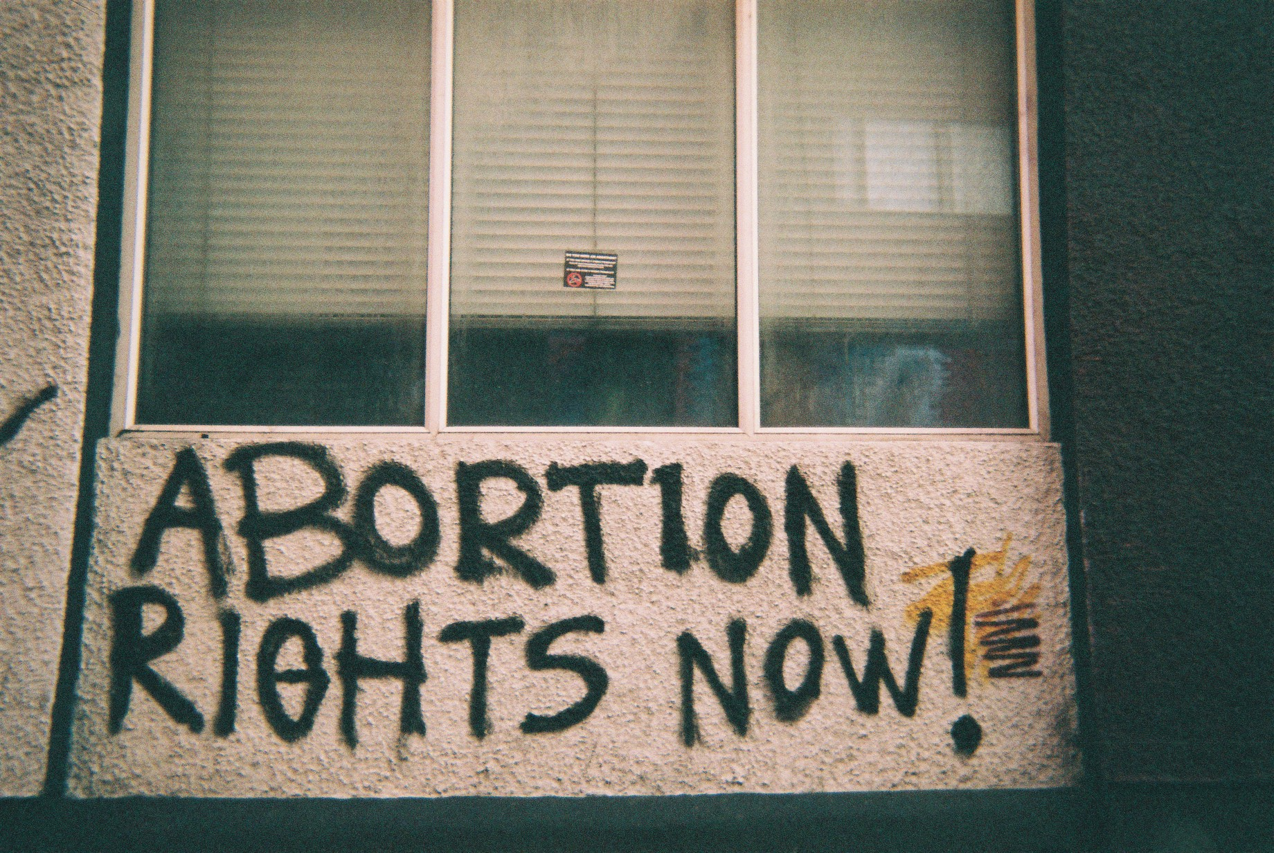 Abortion Rights Now graffiti seen in Belfast (Photo: James Cropper)