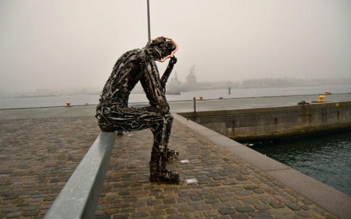 Sad statue Copenhagen