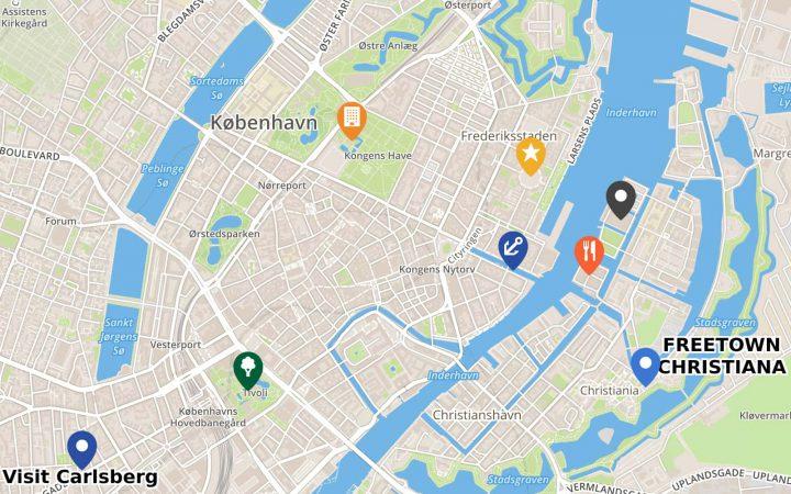 Copenhagen map by Tyisha Rochelle for Artefact