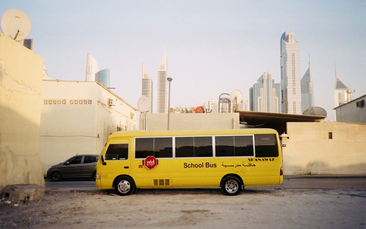 School bus in Dubai