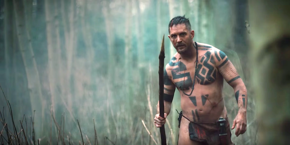 Actor Tom Hardy in new period drama 'Taboo'