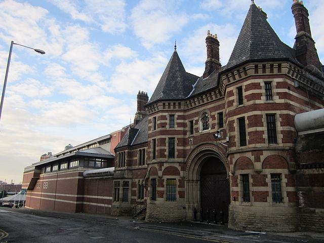 The entrance to Strangeways prison in Manchester