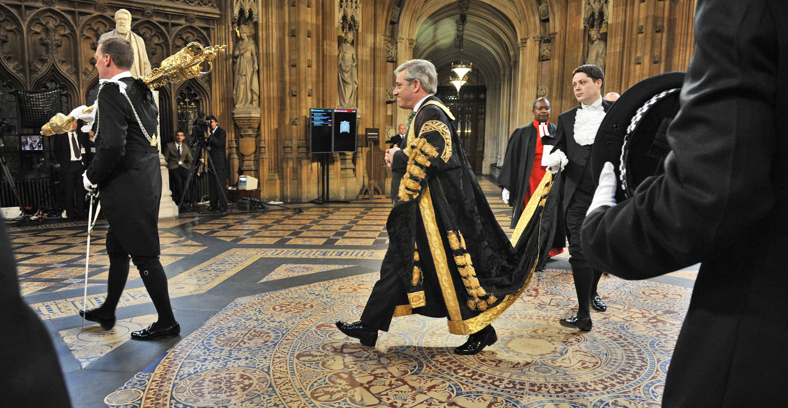 John Bercow in the Speakers Procession in the State Opening of Parliament 2013