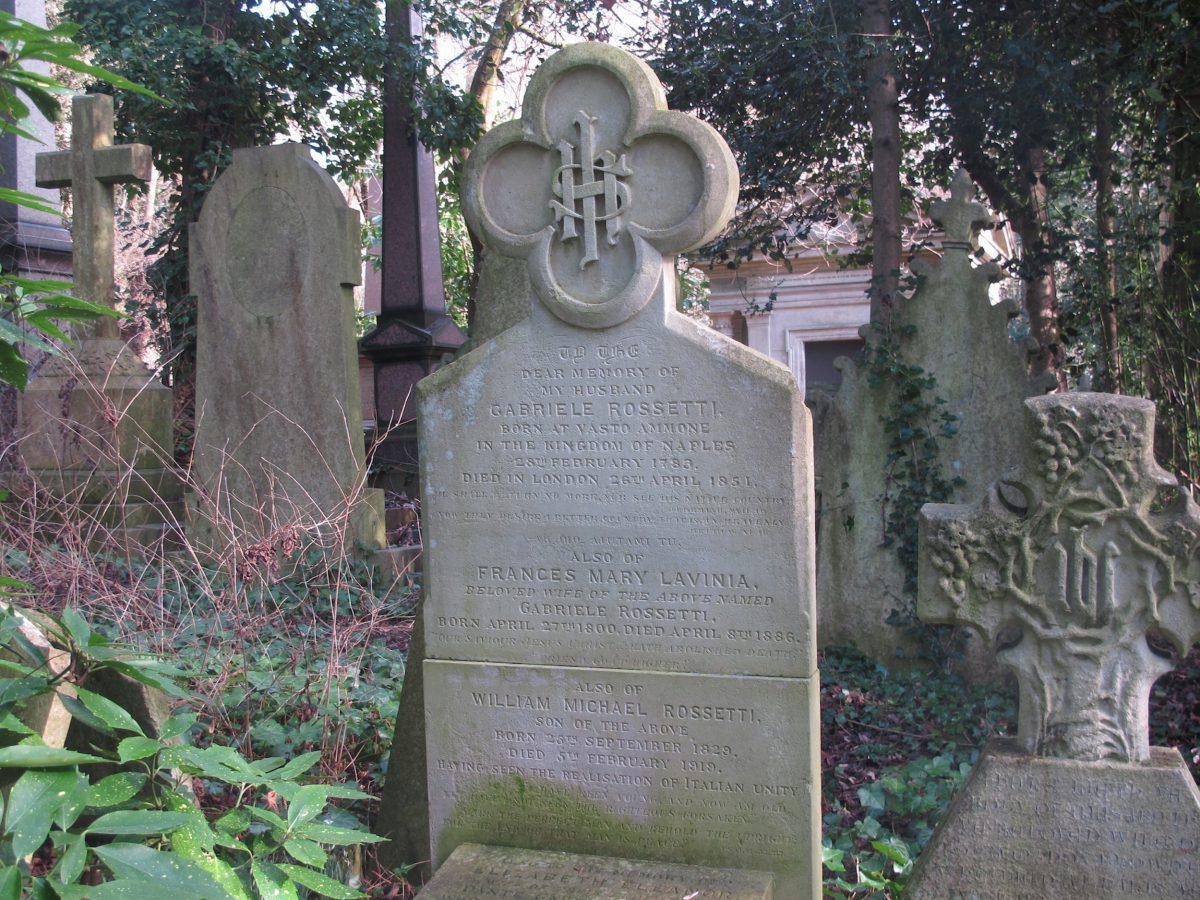 Rossetti's family grave