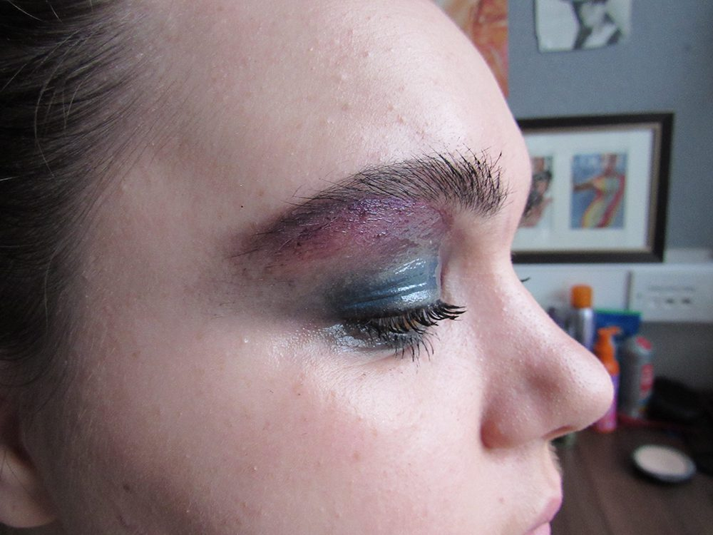 Finished eye makeup look