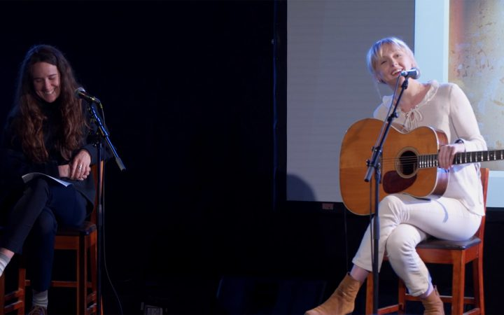 Laura Marling at student press conference for her album 'semper femina'