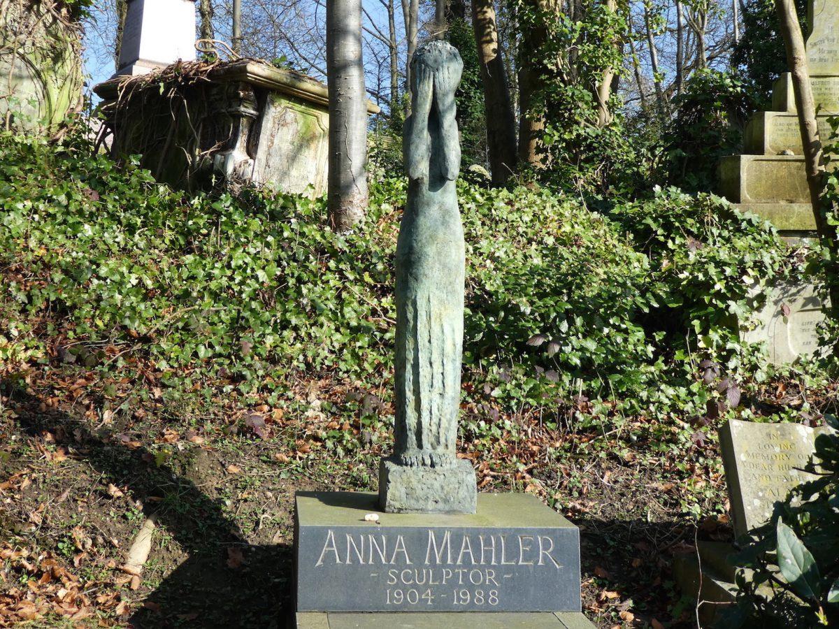 Anna Mahler grave