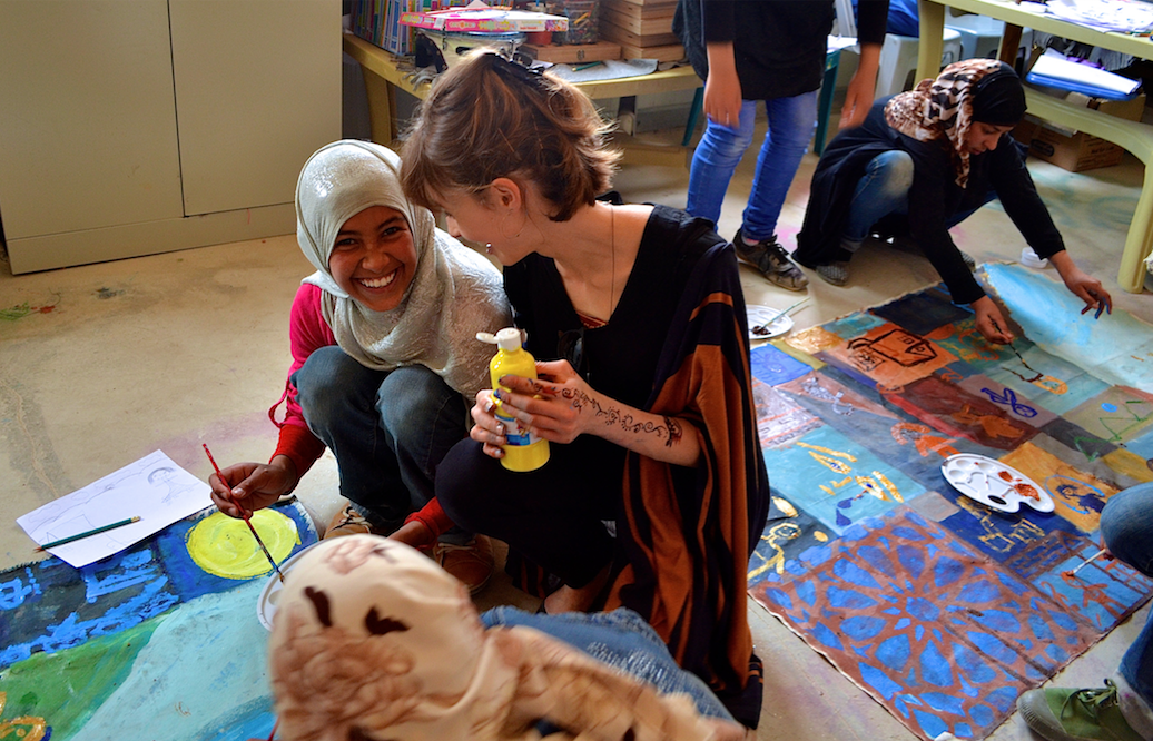 Hannah Rose Thomas at Za'atari refugee camp