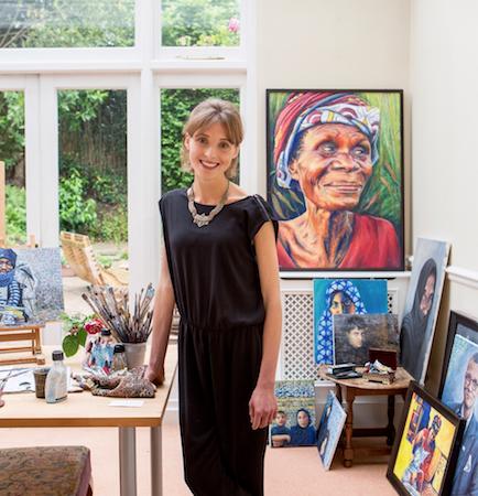 Artist Hannah Rose Thomas in her studio