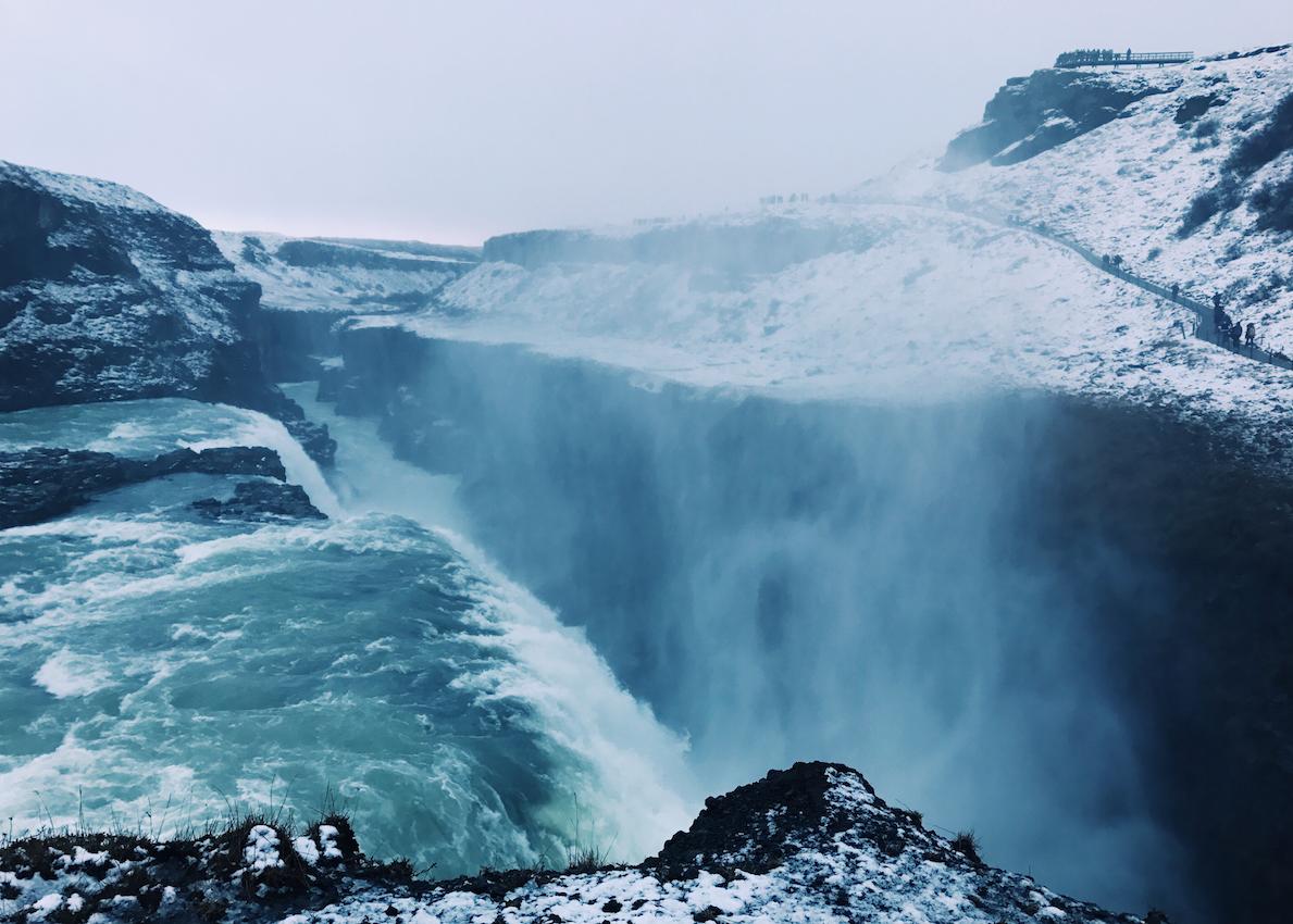 Gullfoss Waterfall (Golden Waterfalls) Iceland
