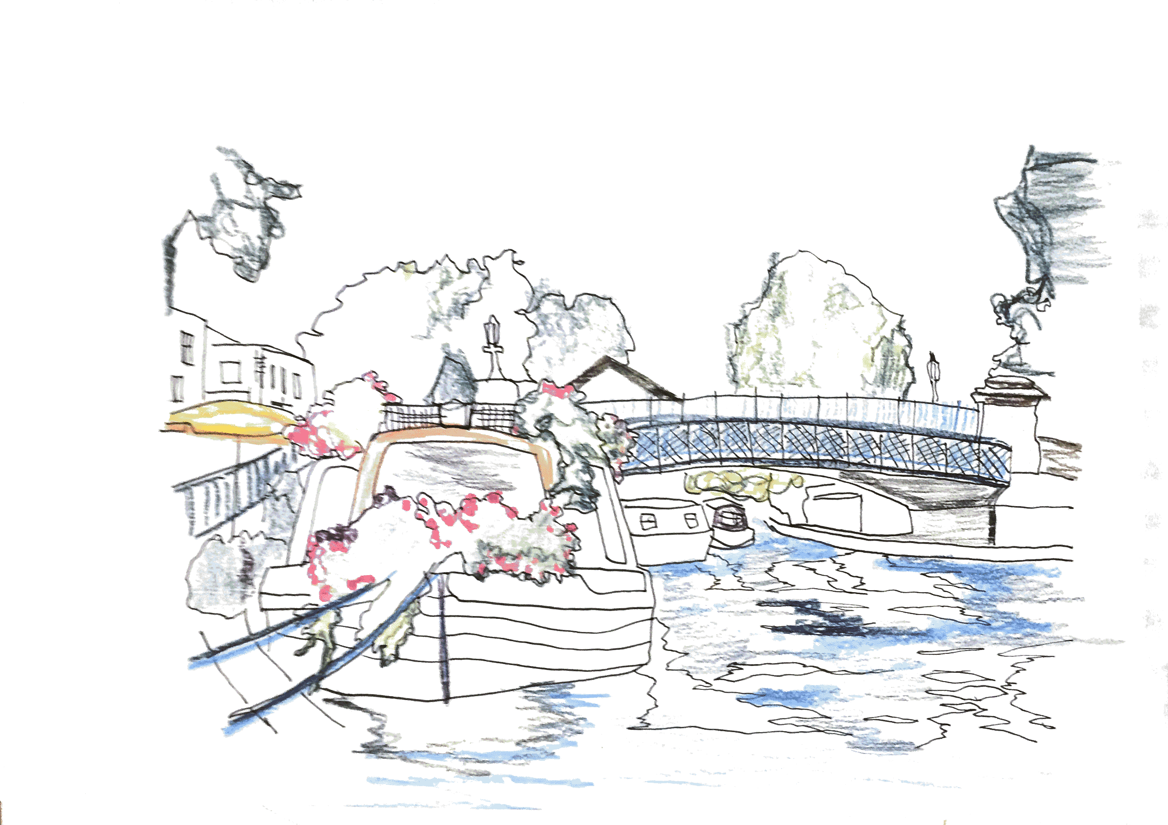 little venice illustration by alice antoine