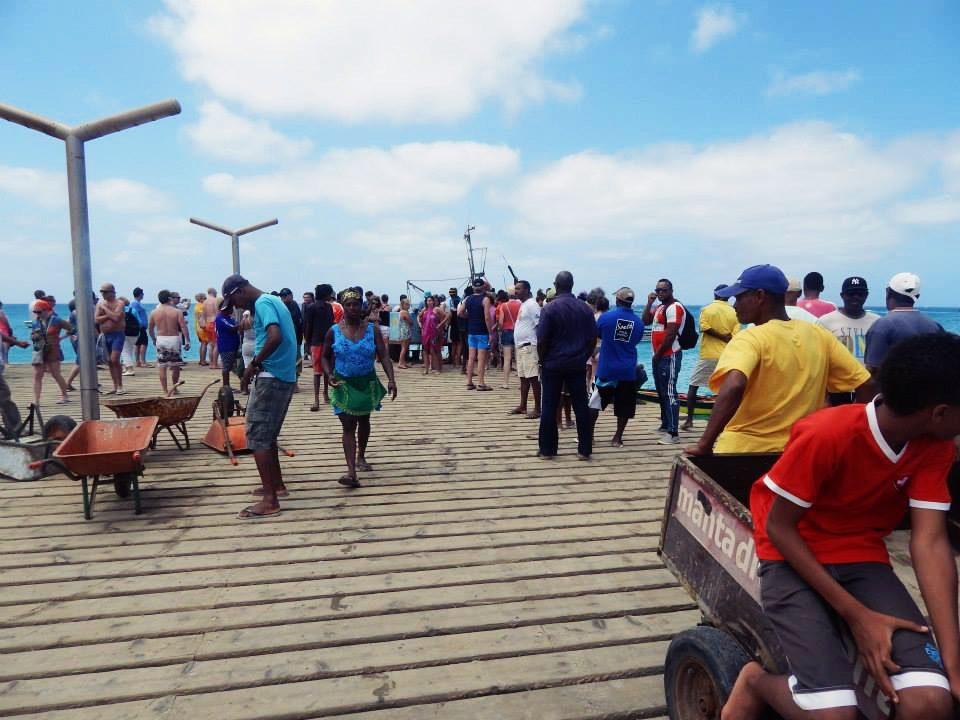 A pier in Cape Verde