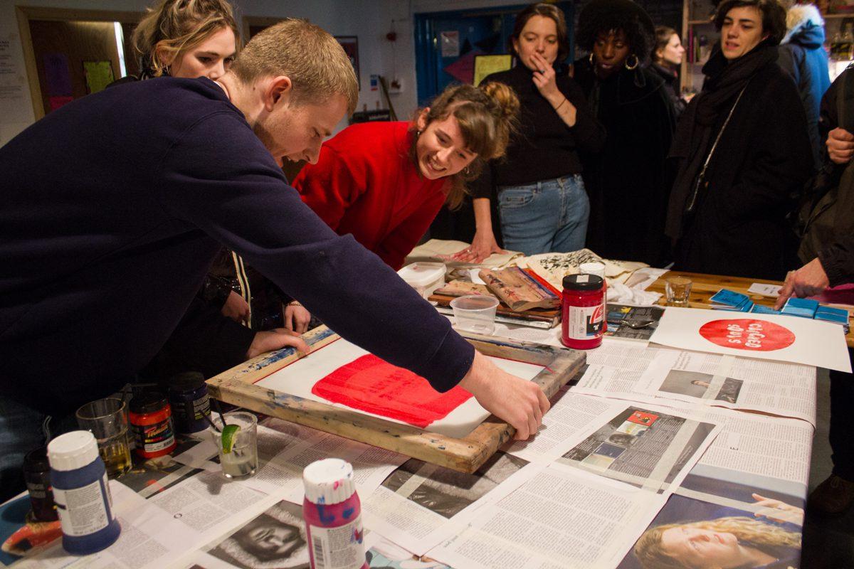 printmaking at diy space for london