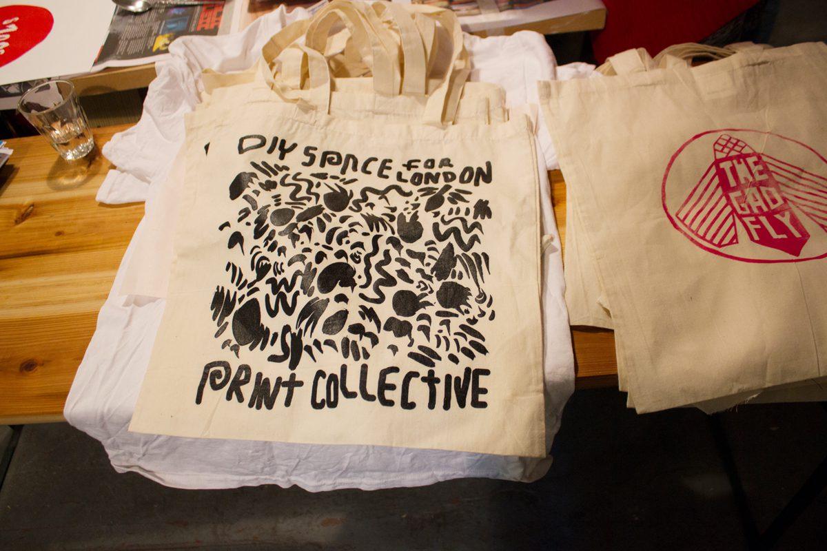 tote bag printed at DIY Space for London