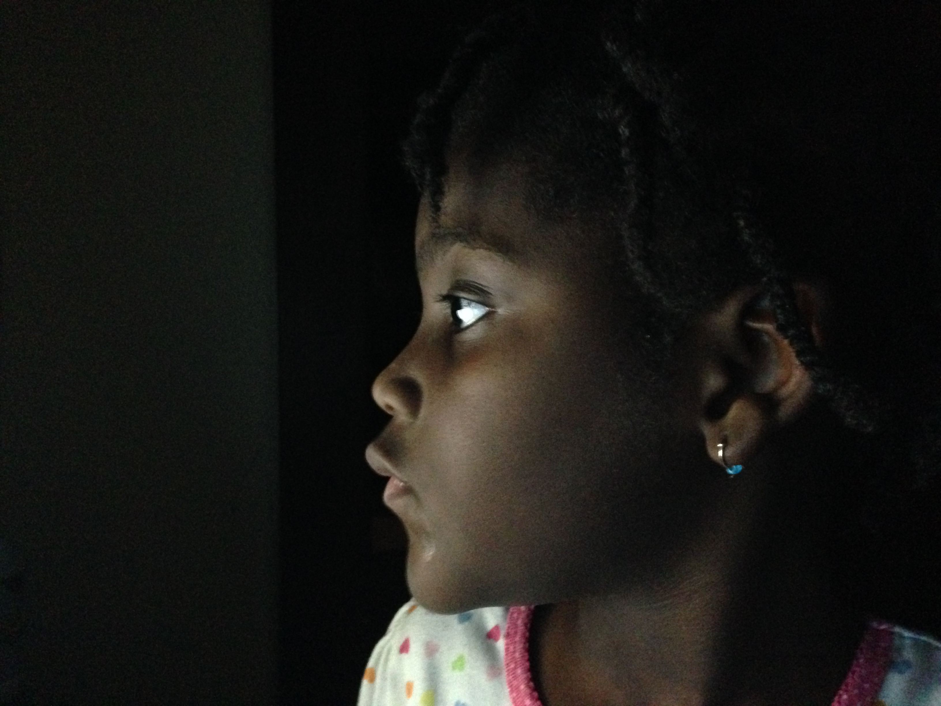 black girl in the dark