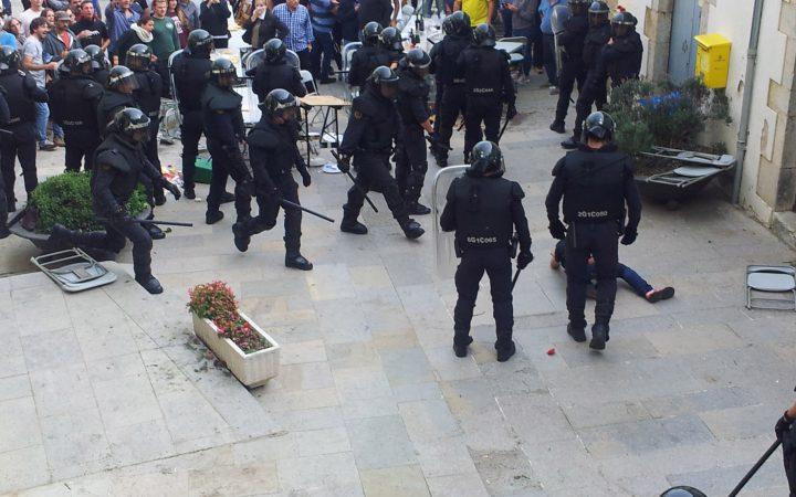 Small town, big heroes - Aiguaviva, Catalonia, October 2017