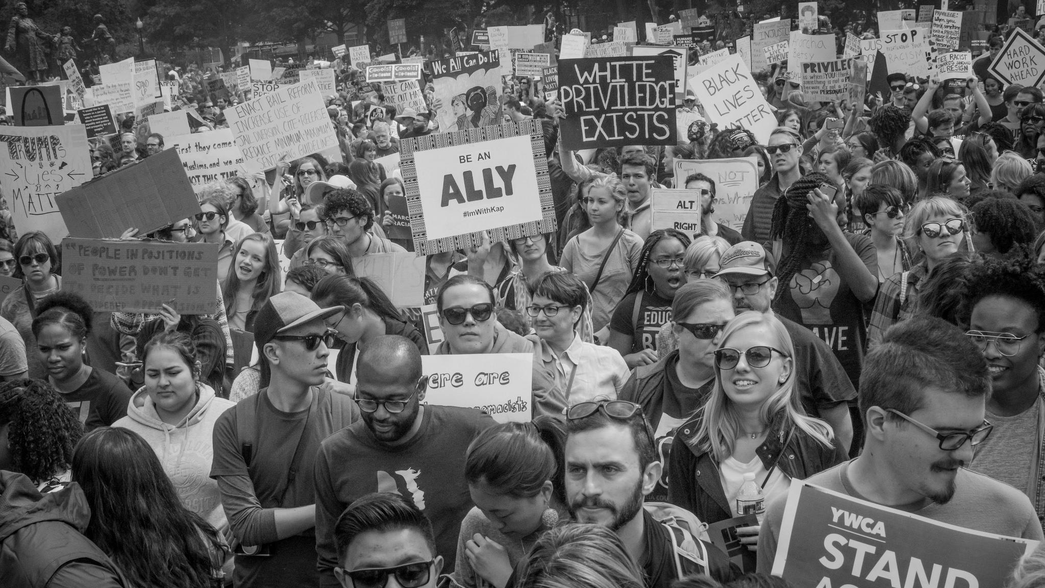 White privilege protesters