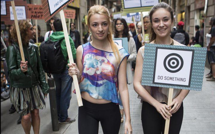Fashion Revolution march Barcelona