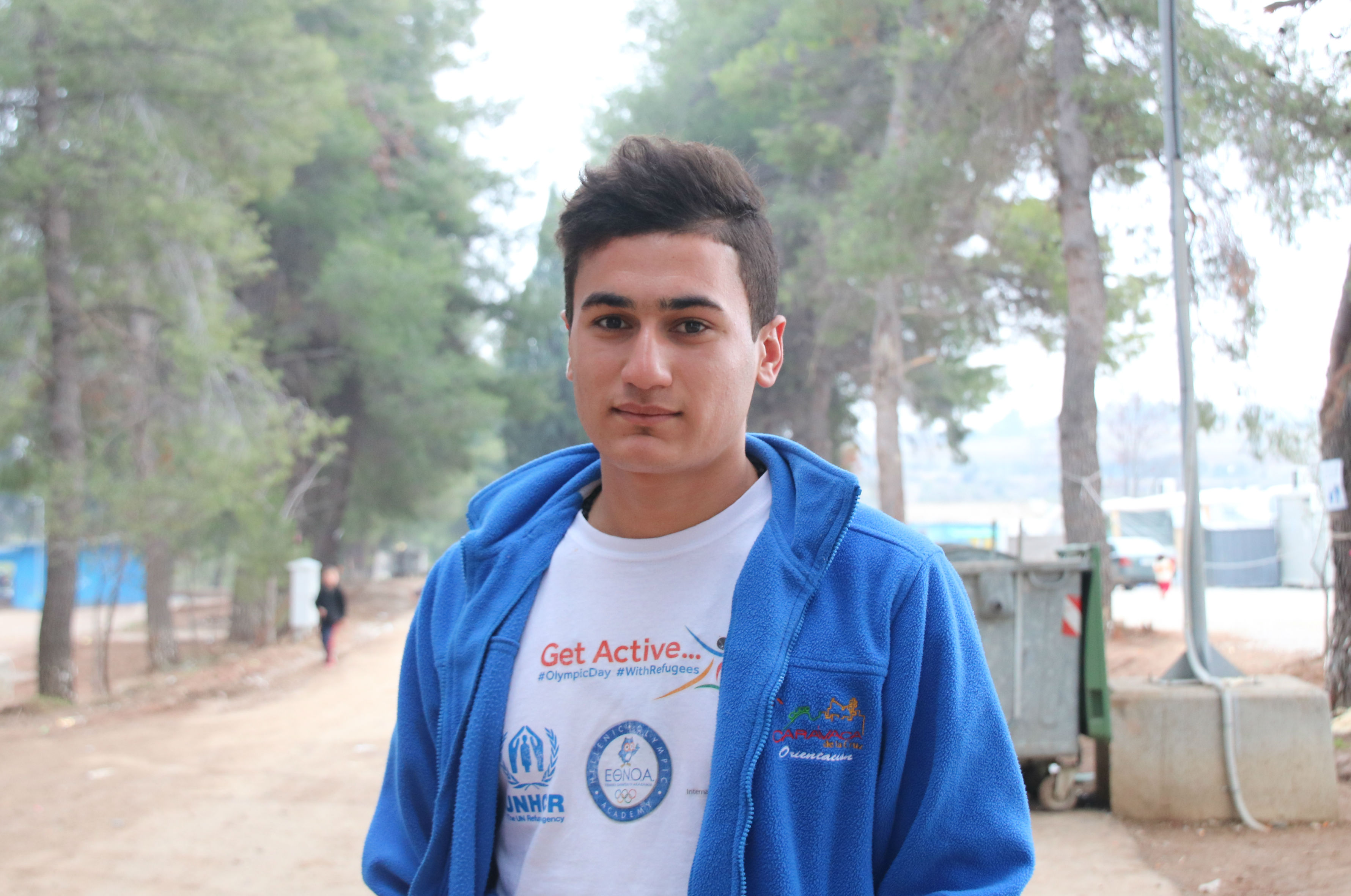 Ferhad at the camp