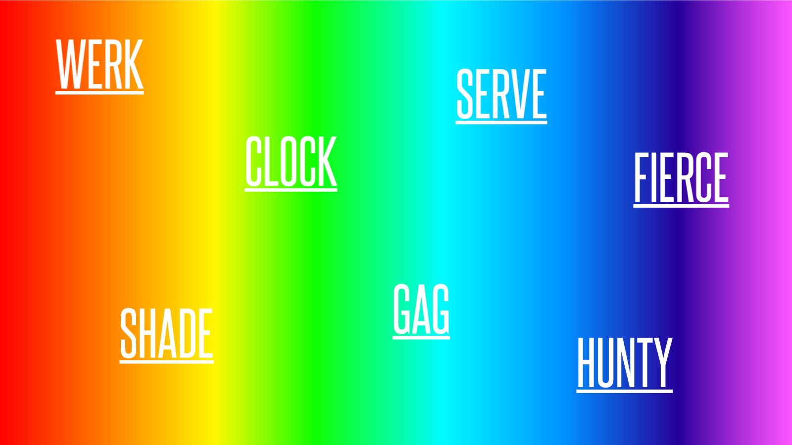 LGBTQ Gradient and phrases