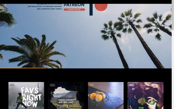 My screenshot of indiemono website